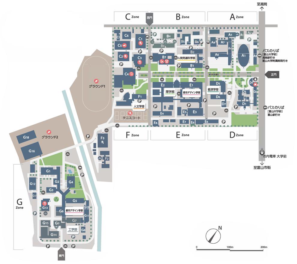 Gofuku Campus Map